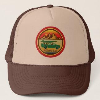 Boné Remando o chapéu do camionista do vintage dos cães
