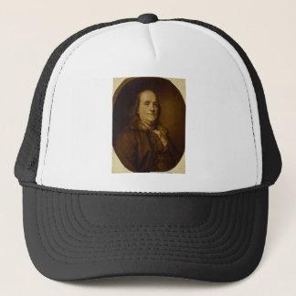 Boné Retrato principal de Benjamin Franklin e dos