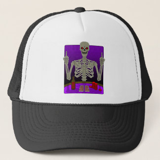 Boné Sacudir de esqueleto do póquer