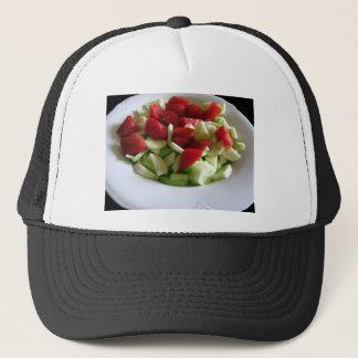 Boné Salada do tomate e do pepino \