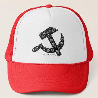 Boné Símbolo de URSS da foice e do martelo com crânios