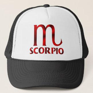 Boné Símbolo vermelho do horóscopo da Escorpião