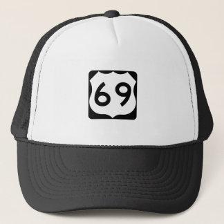 Boné Sinal da rota 69 dos E.U.