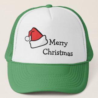 Boné Tipografia do Feliz Natal do chapéu de Papai Noel