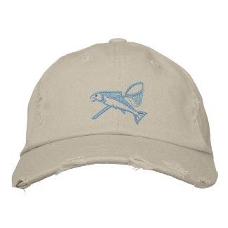 Boné Truta prateada & chapéu bordado rede