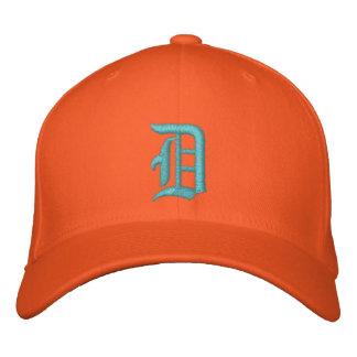 Boné Turquesa e laranja bordadas chapéu de Detroit D