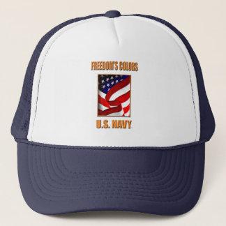 Boné U.S. Chapéu do camionista do marinho