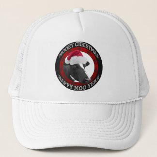 Boné Vaca feliz do chapéu do papai noel do ano do MOO