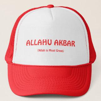 Boné vermelho de ALLAHU AKBAR