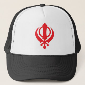 Boné Vermelho de Khanda do sikh