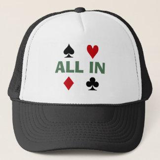Boné Viciado do póquer