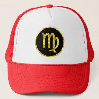 Boné virgo-preto-ouro-crista-chapéu