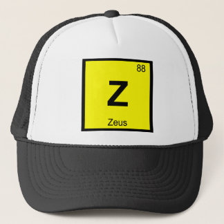 Boné Z - Símbolo da mesa periódica da química do deus