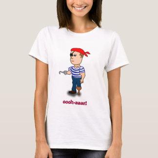boneca das senhoras do pirata do Peg-pé Tshirt