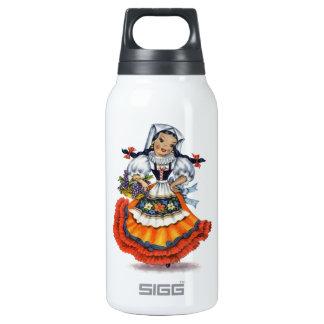 Boneca espanhola velha garrafa de água térmica