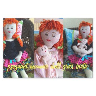 Boneca grávida de Mommie Papel De Seda