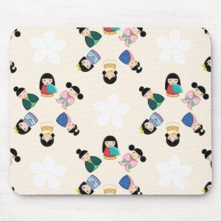 Bonecas Mousepad de Kokeshi do japonês