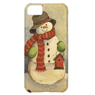 Boneco de neve 4905 & Birdhouse Capa Para iPhone 5C