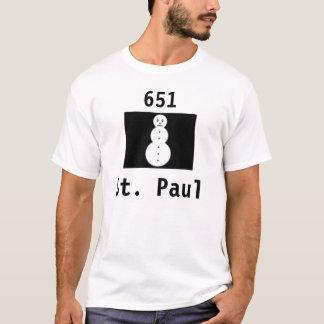 boneco de neve, 651, St Paul T-shirt