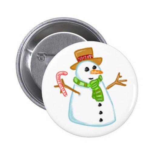 Boneco de neve boton