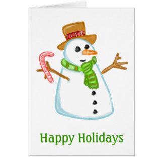 Boneco de neve cartão