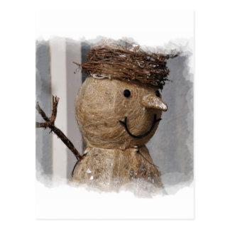 Boneco de neve - coleção do tempo de inverno - cartão postal