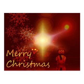 Boneco de neve do Feliz Natal Cartao Postal