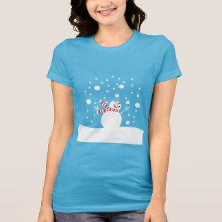 Boneco de neve do feriado t-shirt