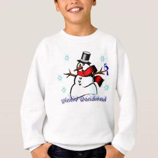 Boneco de neve do país das maravilhas do inverno camiseta