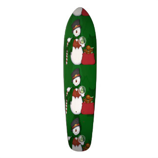 Boneco de neve em Tophat Shape De Skate 18,4cm