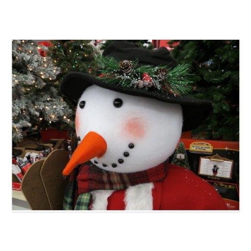 Boneco de neve festivo, 1 cartao postal