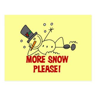 Boneco de neve mais da neve camiseta e presentes cartão postal