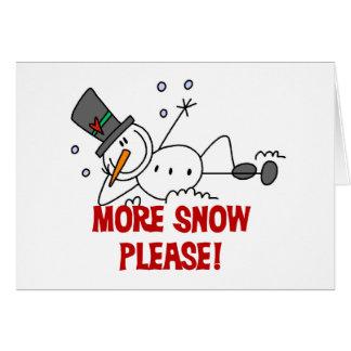 Boneco de neve mais da neve camiseta e presentes p cartão comemorativo