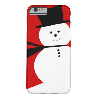 Boneco de neve pequeno engraçado com chapéu alto capa barely there para iPhone 6