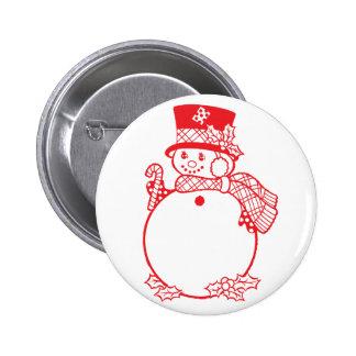 boneco de neve vermelho com bastão de doces botons