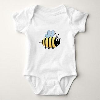 Bonito bumble a camisa do bebê dos desenhos