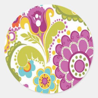 bonito floral do padrão adesivo