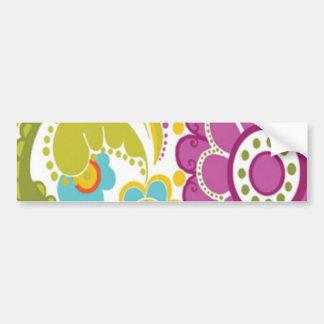 bonito floral do padrão adesivo de para-choque