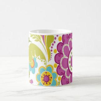 bonito floral do padrão caneca de café
