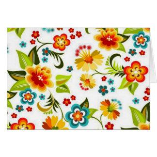 bonito floral do padrão cartão comemorativo