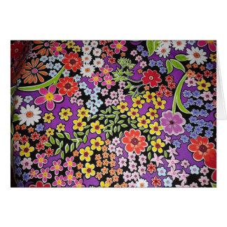 bonito floral do padrão cartão