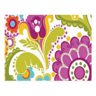 bonito floral do padrão cartão postal