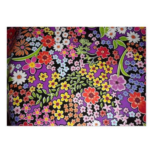 bonito floral do padrão cartoes de visita