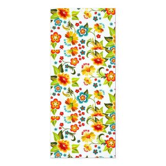 bonito floral do padrão convite 10.16 x 23.49cm