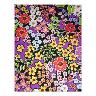bonito floral do padrão panfleto personalizado