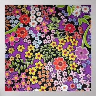 bonito floral do padrão poster