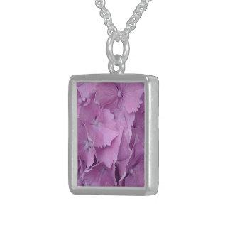bonito na colar cor-de-rosa da prata esterlina