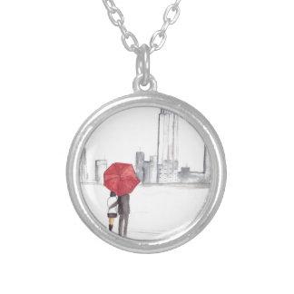Bonito na moda legal de New York do casal vermelho Colar