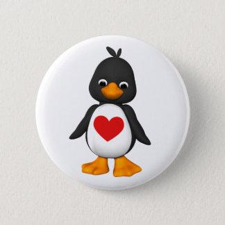 Bonito o botão do pinguim bóton redondo 5.08cm