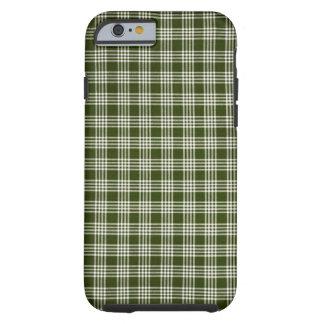 Bonito, verde escuro e branco capa tough para iPhone 6